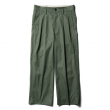 URU / ウル | COTTON 2TUCK PANTS - Khaki