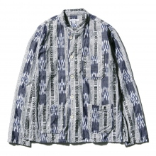 ENGINEERED GARMENTS / エンジニアドガーメンツ | Dayton Shirt - Small Ikat - Grey / White