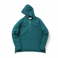 FLISTFIA / フリストフィア | Half Zip Pull Over Parker - Peacock Green