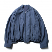 URU / ウル | COTTON ZIP UP BLOUSON - Gray