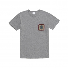 Mr.GENTLEMAN / ミスタージェントルマン | EMBROIDERED POCKET TEE - Grey