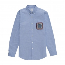 Mr.GENTLEMAN / ミスタージェントルマン | EMBROIDERED POCKET SHIRT - Sax Blue