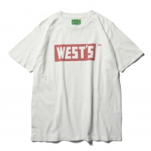 WESTOVERALLS / ウエストオーバーオールズ | WEST'S T-SHIRTS - White / Red