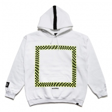 ELVIRA / エルビラ | GLITCH FRAME HOODY - White~