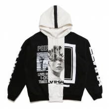 ELVIRA / エルビラ | MULTI REMAKE HOODY - A (Black × White × Black)~