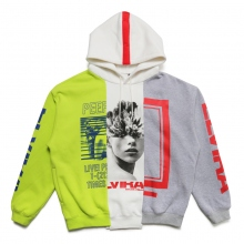 ELVIRA / エルビラ | MULTI REMAKE HOODY - C (Yellow × White × Grey)~