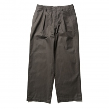 WELLDER / ウェルダー | Single Forward Pleated Wide Trousers - Charcoal Gray
