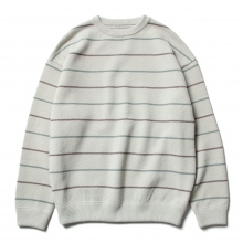 crepuscule / クレプスキュール | border moss stitch L/S sweat - White