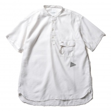 and wander / アンドワンダー | dry linen short sleeve shirt (M) - White