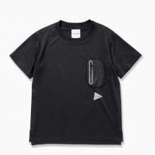 and wander / アンドワンダー | polyester seamless T - Black