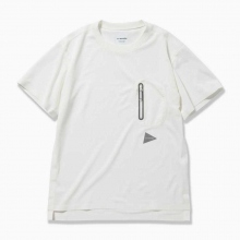 and wander / アンドワンダー | polyester seamless T - Off White