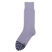 Mr.GENTLEMAN / ミスタージェントルマン|2-TONE BORDER SOCKS - Purple × Navy
