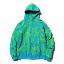 GOODENOUGH / グッドイナフ | DRIP PRINT VENTED HOODIE - Turquoise