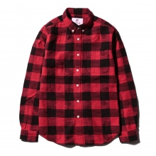 HABANOS / ハバノス | BUFFALLO CHECK CAMO B.D SHIRTS - Red