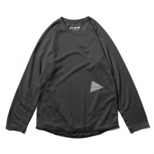 and wander / アンドワンダー | power dry jersey raglan long sleeve T - Charcoal