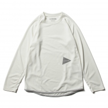 and wander / アンドワンダー | power dry jersey raglan long sleeve T - Off White