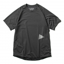 and wander / アンドワンダー | power dry jersey raglan short sleeve T - Charcoal