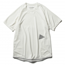 and wander / アンドワンダー | power dry jersey raglan short sleeve T - Off White