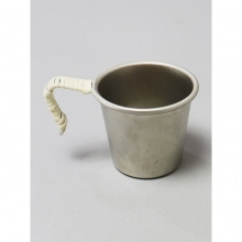 ....... RESEARCH | Anarcho Cups - 065 Mini Mug (Titanium/Wrapped Handle) - Steel Gray × Beige