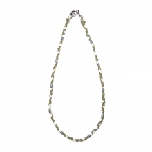 NAISSANCE / ネサーンス | BRAID NECKLACE - Ivory × Khaki