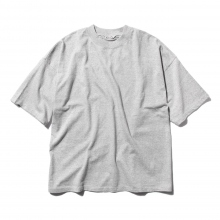 AURALEE / オーラリー | SOFT CORD BIG TEE - Mix Top Gray