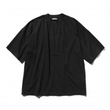 AURALEE / オーラリー | SOFT CORD BIG TEE - Black