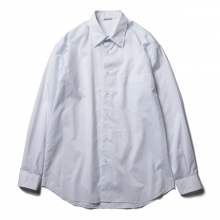 AURALEE / オーラリー | FINX SILK STRIPE SHIRTS - White Stripe ☆