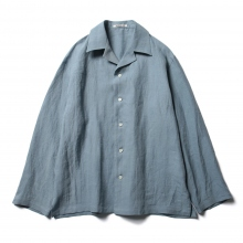 AURALEE / オーラリー | LINEN GABARDINE OVER SHIRTS - Light Blue ☆