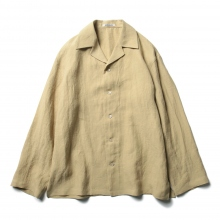 AURALEE / オーラリー | LINEN GABARDINE OVER SHIRTS - Yellow Beige
