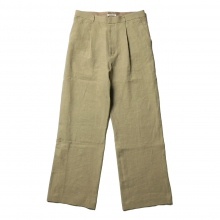 AURALEE / オーラリー | WASHED LINEN SLACKS - Khaki Green