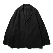 AURALEE / オーラリー | WASHED LINEN JACKET - Black