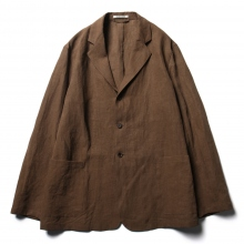 AURALEE / オーラリー | WASHED LINEN JACKET - Brown