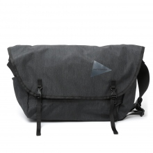 and wander / アンドワンダー | heather messenger bag - Charcoal