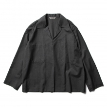 AURALEE / オーラリー | WOOL SILK TROPICAL SHIRTS JACKET - Charcoal Black