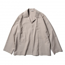 AURALEE / オーラリー | WOOL SILK TROPICAL SHIRTS JACKET - Light Beige