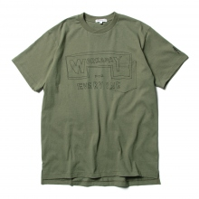 ENGINEERED GARMENTS / エンジニアドガーメンツ | Printed Crossover Neck PocketTee - Workaday for Everyday - Olive