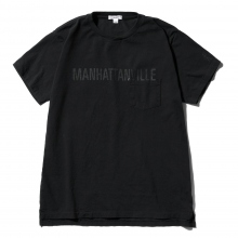 ENGINEERED GARMENTS | Printed Cross Crew Neck T-shirt - Manhattanville - Navy