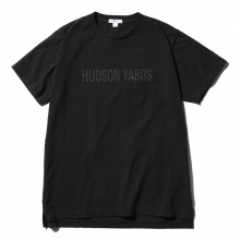 ENGINEERED GARMENTS | Printed Cross Crew Neck T-shirt - Hudson Yards - Navy