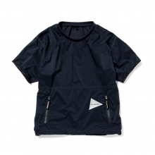 and wander / アンドワンダー | PERTEX wind T - Navy