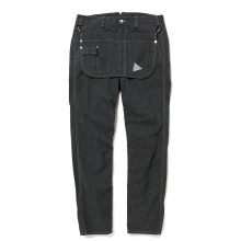 and wander / アンドワンダー | garment dyed serge pants (M) - Black