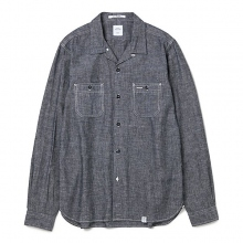 BEDWIN / ベドウィン | L/S CHAMBRAY OPEN COLLAR SHIRT 「ROGERS」 - Black