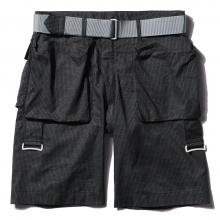 ....... RESEARCH | Bootleg Shorts - Black ☆
