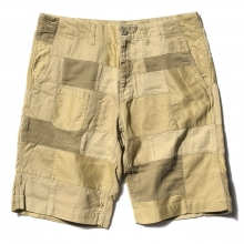 ....... RESEARCH | Patched Shorts - Beige