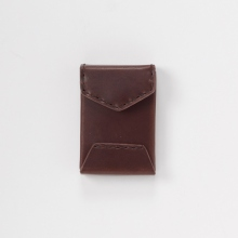 Hender Scheme / エンダースキーマ | tiny envelope card case - Dark Brown
