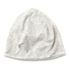 ENGINEERED GARMENTS | Reversible Beanie Cap - Floral Jacquard French Terry - Grey ☆