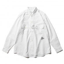 and wander / アンドワンダー | dry OX shirt (M) - White