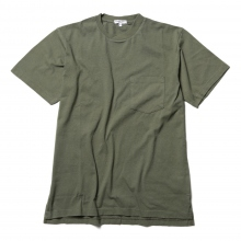 ENGINEERED GARMENTS / エンジニアドガーメンツ | EG Workaday Crossover Neck Pocket Tee - Solid - Olive