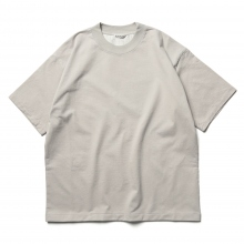AURALEE / オーラリー | STAND UP TEE - Pale Gray