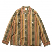 South2 West8 / サウスツーウエストエイト | Smokey Shirt - Cotton Cloth / Ikat Pattern - Grn/Bge/Brd