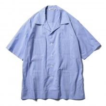 AURALEE / オーラリー | FINX SILK STRIPE CUBA SHIRTS - Blue Stripe